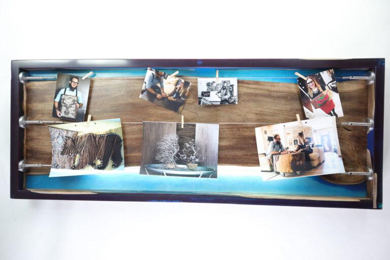 műgyanta lámpa fényképtartó ajándék drótfa réz acél alumínium horgany 105.10