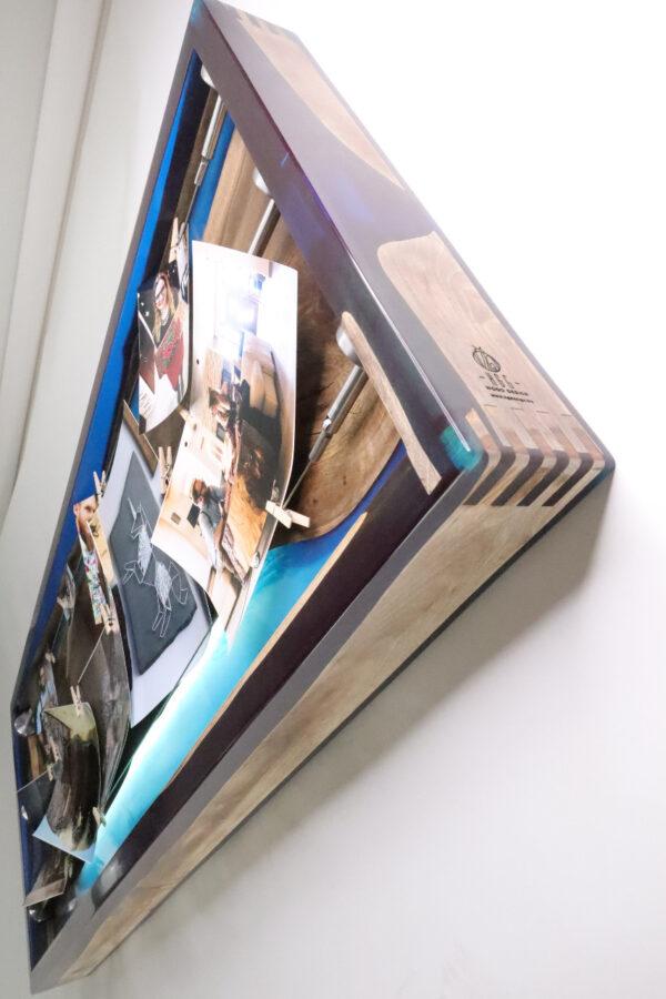 műgyanta lámpa fényképtartó ajándék drótfa réz acél alumínium horgany 105.11