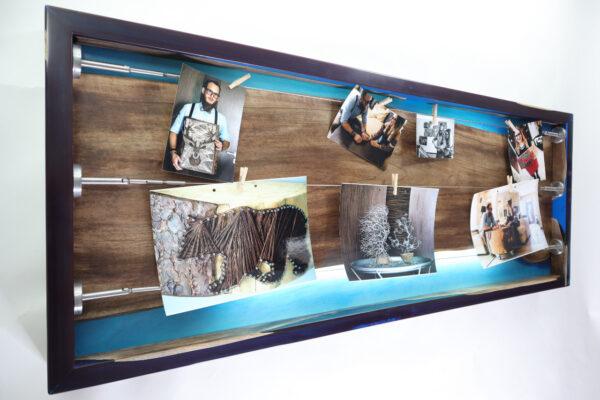 műgyanta lámpa fényképtartó ajándék drótfa réz acél alumínium horgany 105.9.3