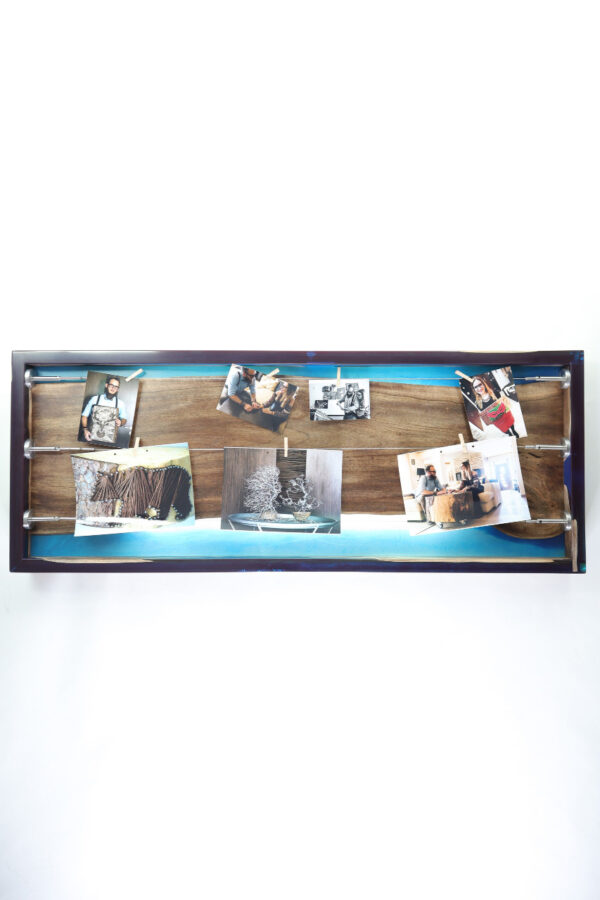 műgyanta lámpa fényképtartó ajándék drótfa réz acél alumínium horgany 105.8-1