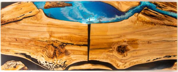 műgyanta led asztal ajándék drótfa réz acél alumínium horgany 116