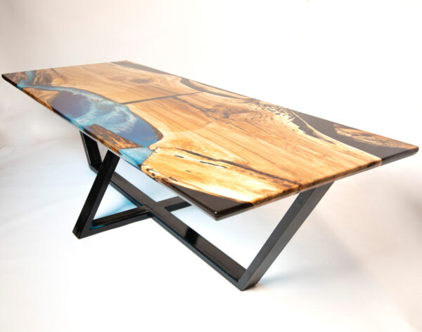 műgyanta led asztal ajándék drótfa réz acél alumínium horgany 116.2