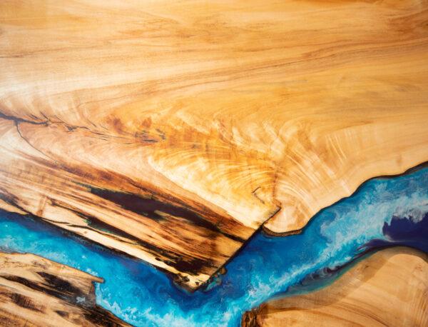 műgyanta led asztal ajándék drótfa réz acél alumínium horgany 116.3