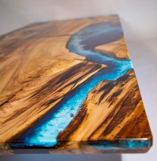 műgyanta led asztal ajándék drótfa réz acél alumínium horgany 116.4