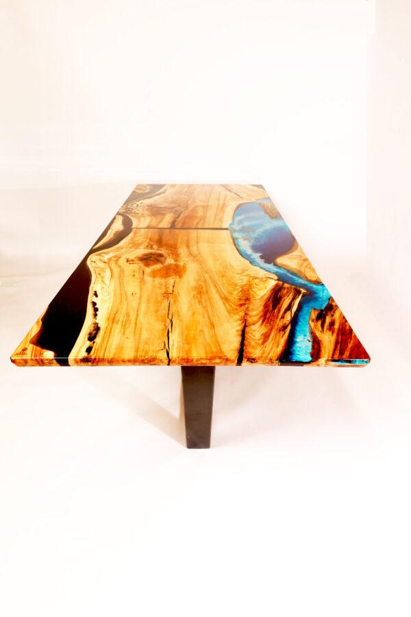 műgyanta led asztal ajándék drótfa réz acél alumínium horgany 116.7