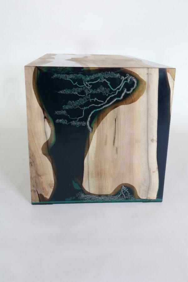 műgyanta led asztal ajándék drótfa réz acél alumínium horgany 117.1