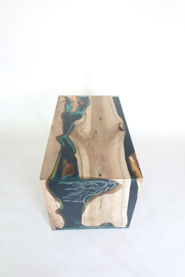 műgyanta led asztal ajándék drótfa réz acél alumínium horgany 117.2