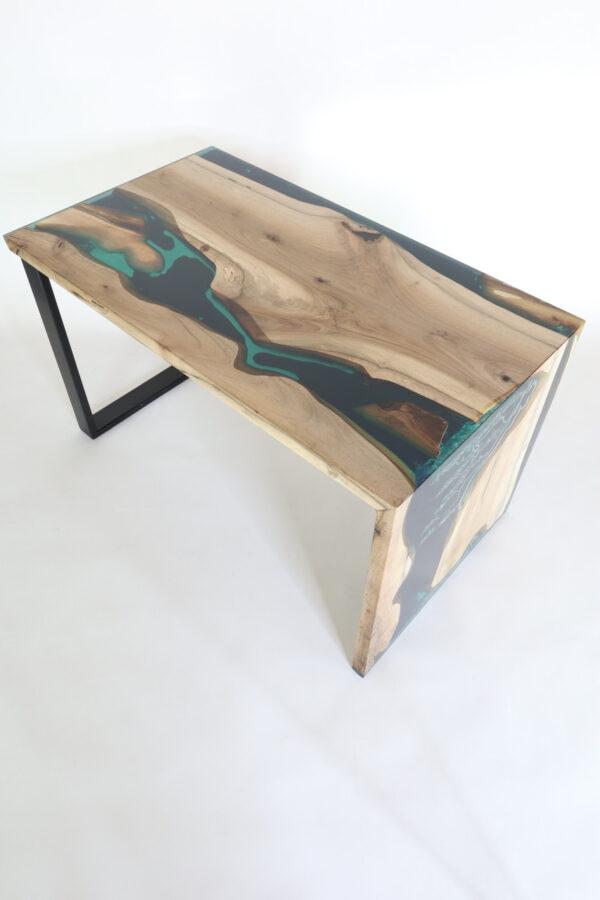 műgyanta led asztal ajándék drótfa réz acél alumínium horgany 117.4