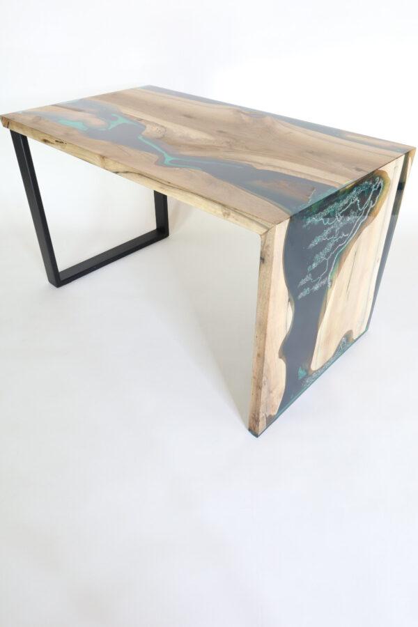 műgyanta led asztal ajándék drótfa réz acél alumínium horgany 117.5