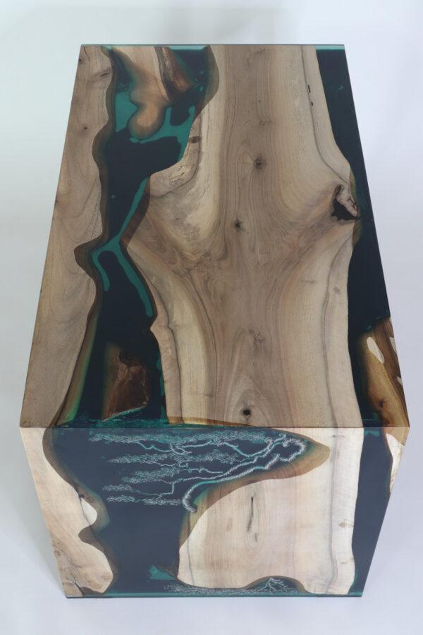 műgyanta led asztal ajándék drótfa réz acél alumínium horgany 117.6
