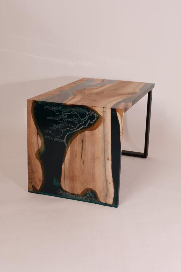 műgyanta led asztal ajándék drótfa réz acél alumínium horgany 117.61